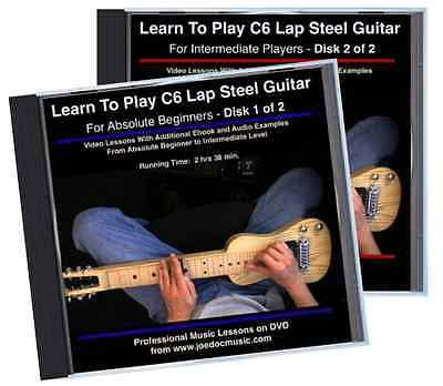 Learn How To Play C6 Lap Steel Guitar - Beginner To Intermediate Level 2 DVD Set