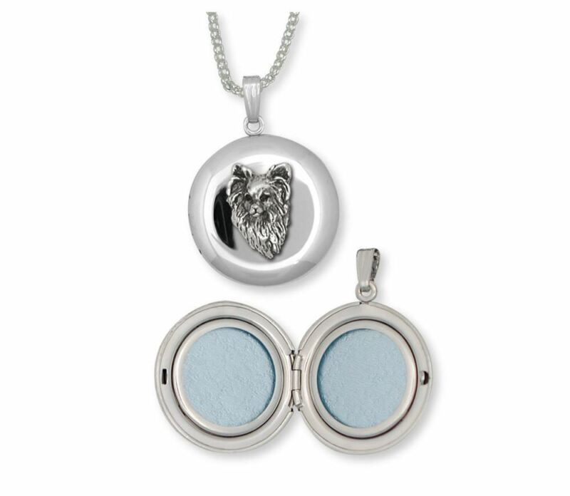Papillon Photo Locket Jewelry Sterling Silver Handmade Dog Photo Locket PA9-D