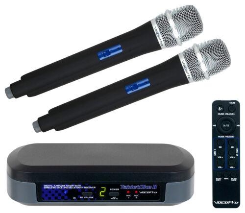 VocoPro TabletOke-II Digital Karaoke Mixer 2 Wireless Mics & Bluetooth Receiver