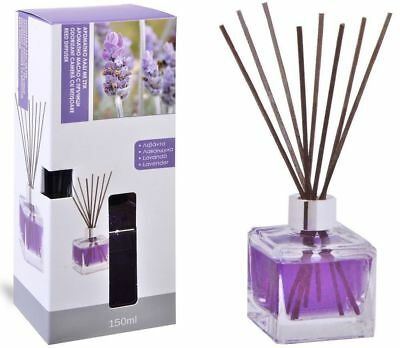 Lavender Scented Reed - LAVENDER SCENTED ESSENTIAL OIL ROOM AIR FRESHENER REED DIFFUSER 150ml + 8 STICKS