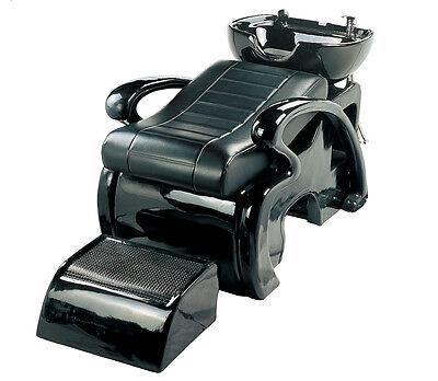 Black Backwash Shampoo Bed Unit Salon Hairdressing Equipment Furniture New