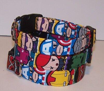 Wet Nose Designs Kawaii Marvel Superheros Dog Collar Avengers Hulk Ironman Thor - Superhero Dog Collars