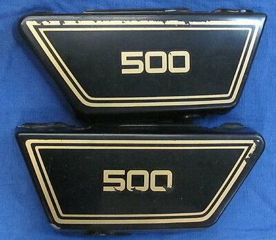 1978 78 <em>YAMAHA</em> XS500 <em>XS 500</em> LEFTRIGHT SIDECOVERS SIDE COVER XS500E BA