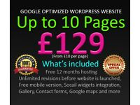 10 Pages for £129 | Website design | Website development | SEO Services