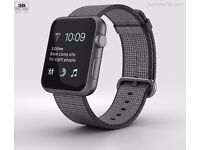 Apple Series 2 Watch 42mm Space Gray Aluminium Extra Straps & Cable