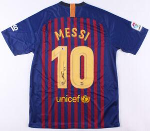 a444e81a7 Barcelona Lionel Messi Signed Autographed Soccer Jersey Leo - Beckett BAS  COA