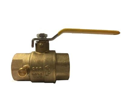 Libra Supply 34 Inch 34 Lead Free Ips Threaded Brass Ball Valve With Drain