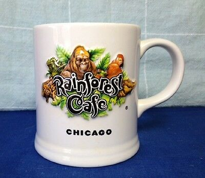 Photo CHICAGO RAINFOREST CAFE MUG, 10 WILD YEARS, 3D EMBOSSED 13 oz. CUP