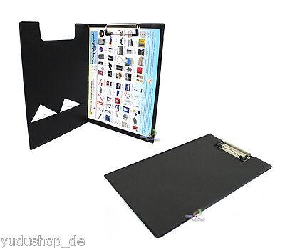 Tasche Klemmbügel (Klemmbrett Schreibplatte mit Innentasche Bügelklemme A4 schwarz)