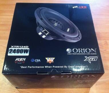 12 inch ORION XTR 600RMS DUAL 4 OHM COMPETITION SUB WOOFERS
