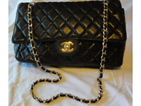 CHANEL Handbag Bag Jumbo Caviar Double Flap Quilted Bag Hand Bag Shoulder Black Red Leather