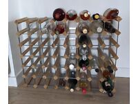 56 Bottle Traditional Wine Rack. Natural Pine, Beige, cm 82 W x 23 D x 62 H. Original Price £62.