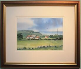 Original Irish Art Painting FARMSTEAD NR CARNLOUGH by Irish Artist PAUL HOLMES