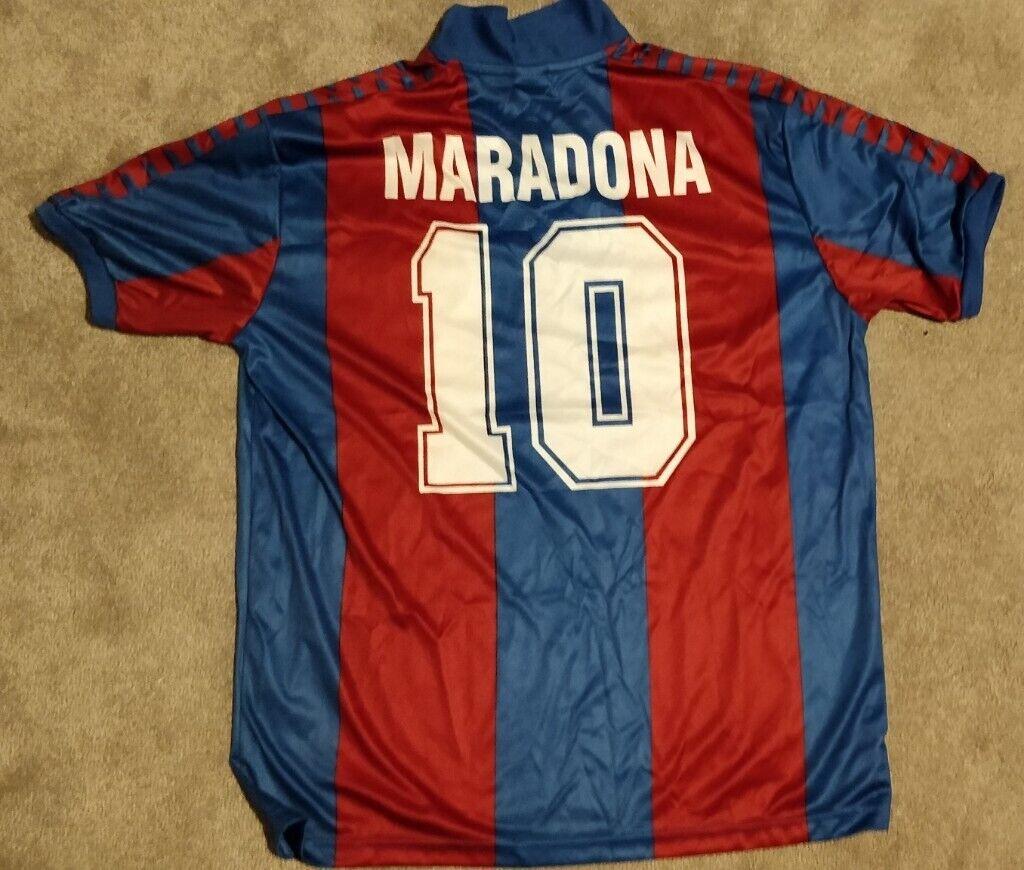 4e7f704d7 Signed 1982 number 10 Diego Maradona Barcelona shirt
