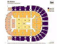 Queen + Adam Lambert at The O2, Tuesday 12th December. 4 x Lower tier block 103 seats, £150 each