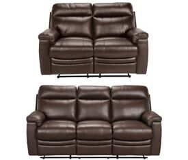 Argos 3+2 manual recliner sofa- minimally used
