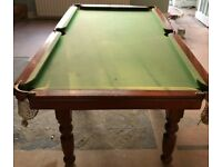 Pool table with slate bed – 6ft - £200