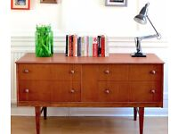 Stylish Vintage Danish teak dresser / sideboard / chest. Delivery. Modern / Mid century
