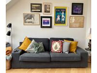 Kivik Three Seater Sofa - Hillared Anthracite Grey