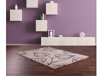 brand new stunning large grey leaf rug in 160x230 cm size