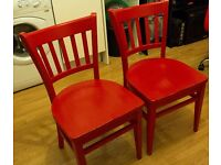 Pair of old wooden chairs