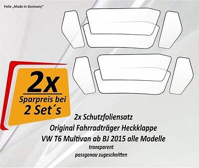 2x Protector Set Ahorro Portabicicletas Soporte Rueda Transportín Trasero VW Bus