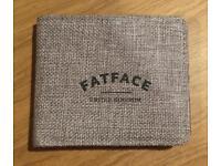 Brand new Men's Fat Face wallet. Grey