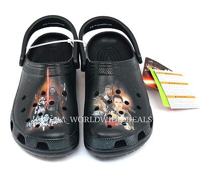 NEW Crocs Star Wars The Force Awakens Black Slip on Clogs Shoes Adult Unisex - Adult Star Wars Shoes
