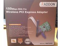 ADDON 150Mbps 802.11n Wireless PCI Express Network Adaptor