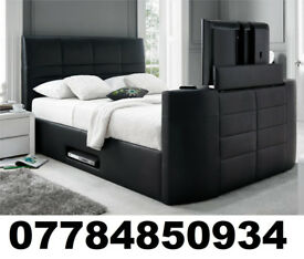 2/BLACK FRIDAY DEAL BRAND NEW TV BED WITH GAS LIFT STORAGE Fast DELIVERY 6849