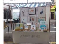 Market stall - table top style including 3-piece Grid wall, 15 x clips + cover/tarpaulin