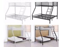50% OFF:: CLASSY LOOK Metal Trio Sleeper Bunk Bed With 2 Mattresses -- Cheapest Price -- Same Day