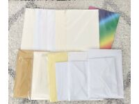 Bundle of Pre-creased Greeting Card Stock, Envelopes & Insert Cards £57 for £28.