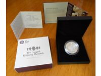 2015 £5 Royal Mint Longest Reigning Monarch Five Pound Silver Proof Coin