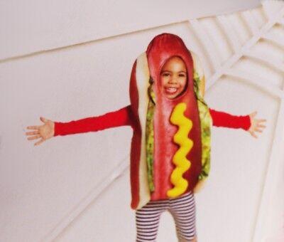 Hot Dog Toddler Costume (Toddler Boys Girls HOT DOG Funny Food Mustard Halloween Purim Costume  2T 3T)