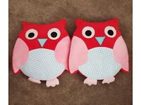 Bedroom owl set (various items)