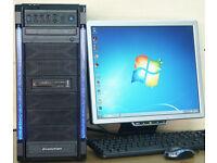 PC Computer Intel Core 2 Quad 8Ghz (2.4Ghz x4) 8gb DDR2 RAM 500GB HD, No 207