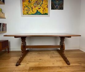 Vintage Solid Beech and Elm Dining Table By Ercol FREE LOCAL DELIVERY
