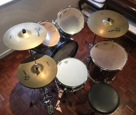DRUM KIT TAMA IMPERIALSTAR WITH PLANET Z CYMBAL SET IN EXCELLENT CONDITION