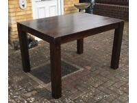 Dakota 120cm Mango Solid Wood Dining Table is perfect for homeowners
