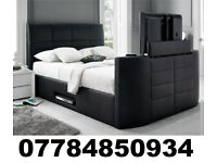 2/BLACK FRIDAY DEAL BRAND NEW TV BED WITH GAS LIFT STORAGE Fast DELIVERY 93470
