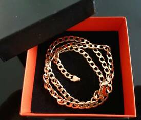 9CT solid gold chain unisex . Ideal GIFT