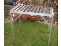 Aluminium garden staging, potting table
