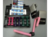 Ladies / Womens Mini Dumbell exercise Set (un- used and boxed) and Fitness equipment JOB LOT