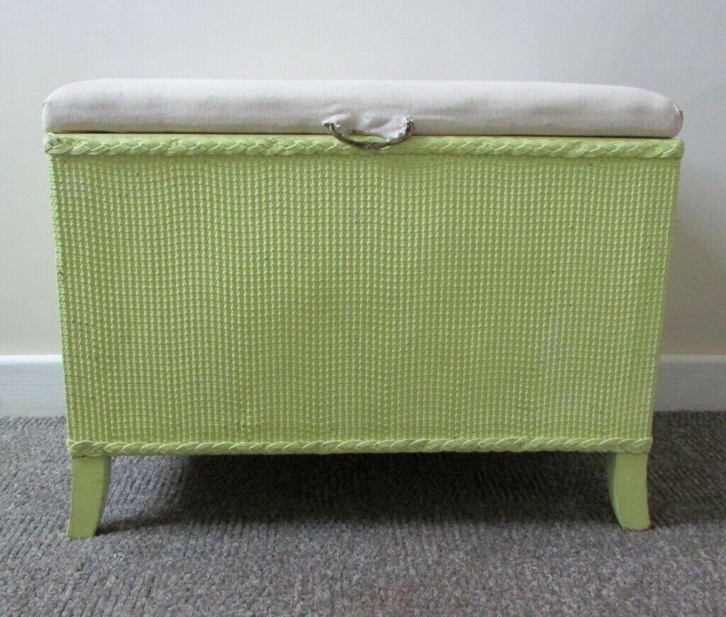 Blanket box storage toy box seat ottoman the top fabric in need of  restoration afc5f91030a2