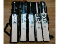 SS TON, Spartan, Adidas English Willow Cricket bats