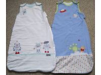 Baby Boys Sleeping bags/Grobags - 0-6months and 12-18m. £2-£4 each.