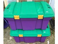 2 x Huge Toy Chest Box Hinged Lid £5 - Collection ONLY Isleworth (Woodlands area)