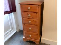 Chest of 5 Drawers Solid Wood