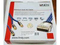 LINDY Premium Gold Pleated AV Cable 10M